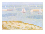 Entrance to the Port of Bessin Prints by Georges Seurat