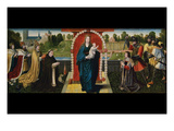 Fifteen Mysteries and the Virgin of the Rosary Poster by Goswyn van der Weyden