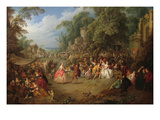 The Fair at Bezons Prints by Jean-Baptiste Pater