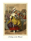 A Lady at the Market Prints by L. Massard