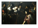 Christ and the Adulteress Prints by Valentin de Boulogne