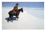 The Scout, Friends or Foes Premium Giclee Print by Frederic Sackrider Remington