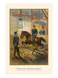 At the Riding Hall - Flying Jump 1st Royal Hanoverian Uhlans - 13th Regiment Print by G. Arnold