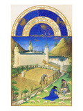 Le Tres Riches Heures Du Duc De Berry - July Plakater af Paul Herman & Jean Limbourg