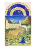 Le Tres Riches Heures Du Duc De Berry - July Poster van Paul Herman & Jean Limbourg