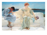 Ask Me No More Posters by Sir Lawrence Alma-Tadema