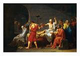 Death of Socrates Kunst af Jacques-Louis David