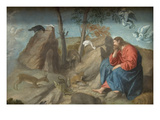 Christ in the Wilderness Posters af Moretto Da Brescia