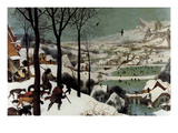 Hunters in the Snow - Detail Premium Giclee Print by Pieter Breughel the Elder