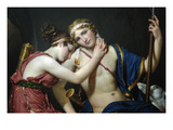 Farewell of Telemechus and Eucharis Art by Jacques-Louis David