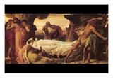 Hercules Wrestling with Death for the Body of Alcestis Kunstdrucke von Frederick Leighton