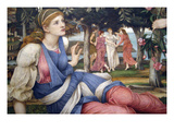 Love and the Maiden (Detail) Prints by John Roddam Spencer Stanhope