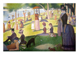 Sunday Afternoon on the Island of La Grand Jatte Posters by Georges Seurat