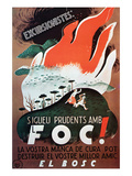 Excursionists - Be Careful of Fire Posters by  Mora