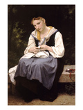 Young Worker Print by William Adolphe Bouguereau