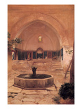 Courtyard at the Mosque at Broussa, Turkey Poster by Frederick Leighton