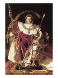 Napoleon I on His Imperial Throne Premium Giclee Print by Jean-Auguste-Dominique Ingres