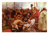 Zaraporoski Cossacks Send the Turkish Sultan Mahmoud Iv a Letter Art by Ilya Repin