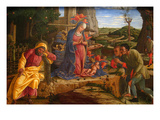 The Adoration of the Shepherds, Shortly after 1451 Poster by Andrea Mantegna