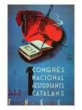 1st National Congress of Catalan Students Posters by Student Federation of Catalonia