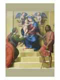 Madonna and Child Enthroned with Saints Mary Magdalene and John the Baptist Posters by Giuliano Bugiardini