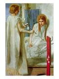 Anunciación Póster por Dante Gabriel Rossetti