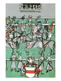 Medieval Tournament Melee and Jousting Posters by Ludwig Van Eyb