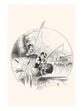 Boys Fishing Poster by Louis Dalrymple