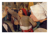 Dance of the Peasants - Detail Posters by Pieter Breughel the Elder