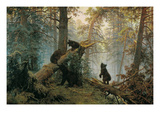 Bears in the Forest Morning Print by Ivan Ivanovitch Shishkin
