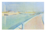 The Channel at Gravelines, Petit Fort Philippe Art by Georges Seurat