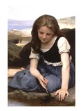 The Crab Poster by William Adolphe Bouguereau