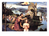 Baptism of Christ Print by Joachim Patenir
