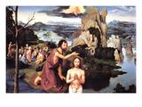 Baptism of Christ Print by Joachim Patinir