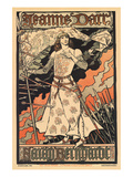 Sara Bernhardt as Joan of Arc Print by Alphonse Mucha