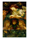 The Blessed Damozel Prints by Dante Gabriel Rossetti