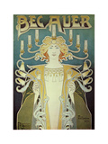 Becauer Lamps Prints by Alphonse Mucha