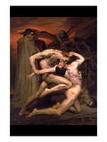 Dante and Virgil in Hell Posters par William Adolphe Bouguereau