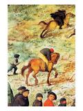 Procession to Cavalry - Detail Premium Giclee Print by Pieter Breughel the Elder