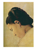Head of a Girl Posters by Georges Seurat