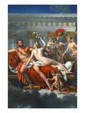 Mars Disarmed by Venus Affiches par Jacques-Louis David