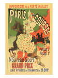 Paris Grand Prix Racing - the New Sport Posters by Alphonse Mucha
