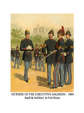 Outside of the Executive Mansion - 1888 - Staff and Artillery in Full Dress Poster by Henry Alexander Ogden