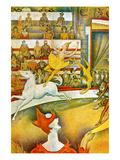 The Circus Premium giclée print van Georges Seurat
