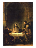 Christ in Emmaus Print by  Rembrandt van Rijn
