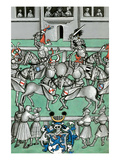 Medieval Tournament Melee and Jousting Prints by Ludwig Van Eyb