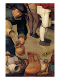 Dance of the Peasants - Detail Print by Pieter Breughel the Elder