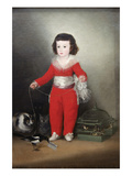Manuel Osorio Manrique De Zuñiga, a Child with His Pets Lámina por Francisco de Goya