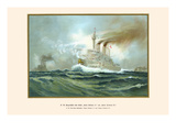 "H.M. First Class Battleships ""Kaiser Wilhelm II"" and ""Kaiser Friedrich III"" Posters by G. Arnold"