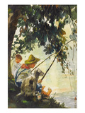 Tom Sawyer Fishing Posters by Howard Pyle